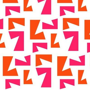 Cut Up - orange and pink