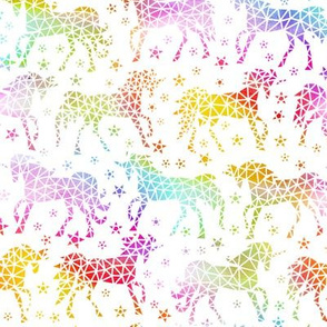 Rainbow Geo Unicorns 2