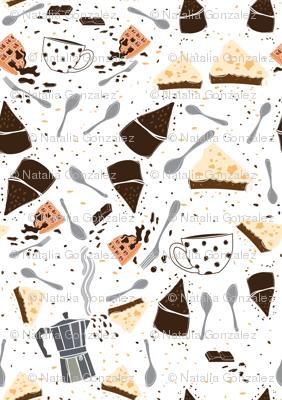 San Chocolate cakes and coffee