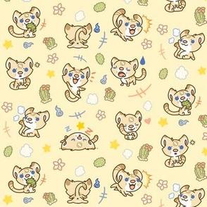 Baxter the Sand Cat /// kawaii cute animal cartoon