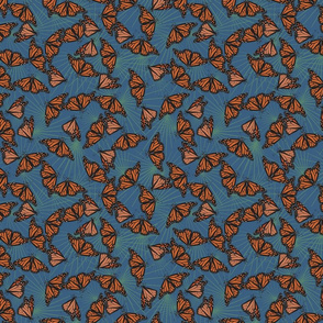 Monarch Migration - Blue