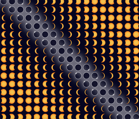dark side of the sun fabric by lucyconway on Spoonflower - custom fabric