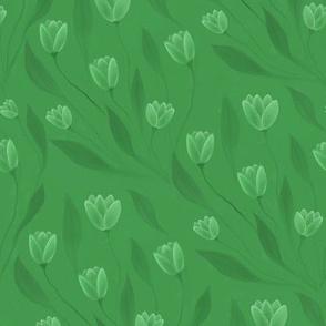 Green tulips
