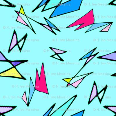 Wacky 80s//BLUE//Geo Pattern #3