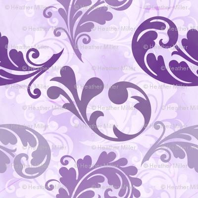 Purple Feathers Pattern