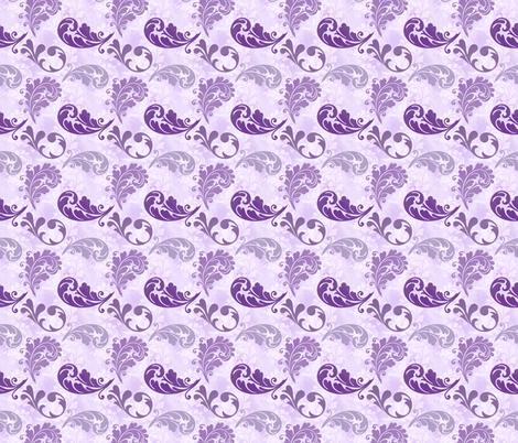 Purple Feathers Pattern fabric by whiterosespatterns on Spoonflower - custom fabric