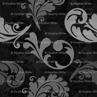 Gray and Black Feather Pattern