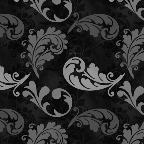 Gray and Black Feather Pattern fabric by whiterosespatterns on Spoonflower - custom fabric