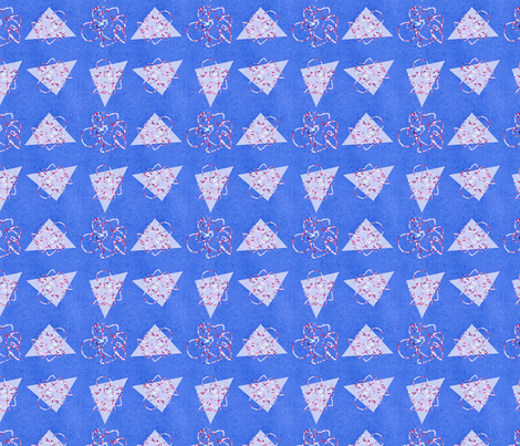 Metallic Triangle Funk Pattern fabric by hleemessina on Spoonflower - custom fabric