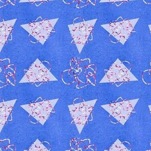 Metallic Triangle Funk Pattern