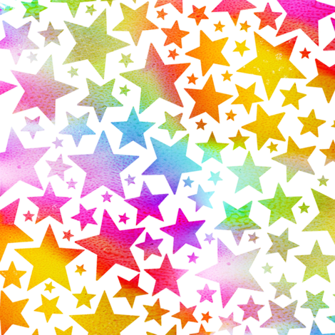 Rainbow Stars fabric by emeryallardsmith on Spoonflower - custom fabric