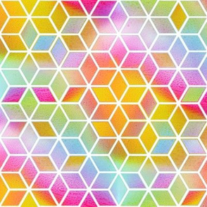 Hexagons - Rainbow 2