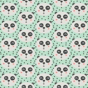 Panda on Mint - Panda Bear