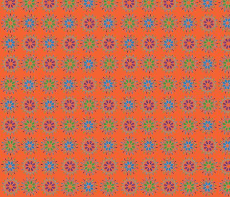 Loop_to_my_Loo orange fabric by meg_beth on Spoonflower - custom fabric