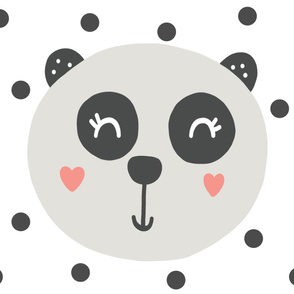 Panda Baby Blanket - Panda Bear - Wholecloth Blanket