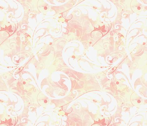 Orange Feathers fabric by whiterosespatterns on Spoonflower - custom fabric