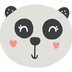 Panda Pillow - Panda Plushie - Cut and Sew Pillow