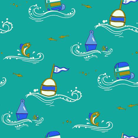 Marine Buoys 1c fabric by muhlenkott on Spoonflower - custom fabric