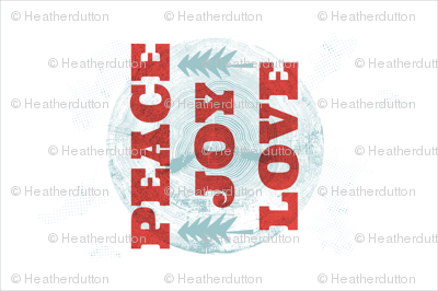 Peace Joy Love Christmas - Fat Quarter Linen Tea Towel