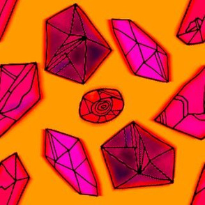 Gem Pattern | Red