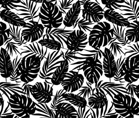 Urban Jungle - White Tropical fabric by heatherdutton on Spoonflower - custom fabric