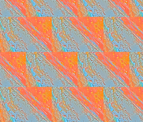 tangerine_aqua_sample-ed fabric by really_design on Spoonflower - custom fabric