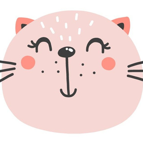 Pink Cat Pillows - Pink Cat Plushies - Kitten Pillows - Cut and Sew Pillows