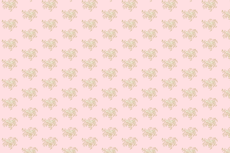 Emma's Floral - Pink & Taupe fabric by jencarroll on Spoonflower - custom fabric