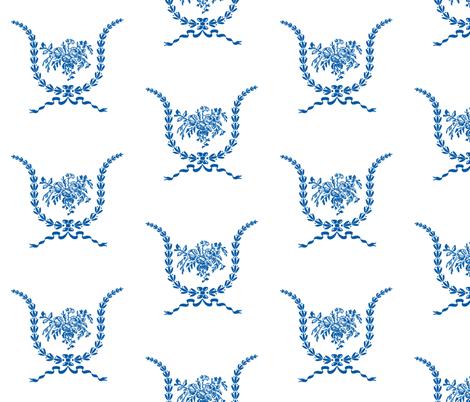 Hartfield Garland Blue fabric by jencarroll on Spoonflower - custom fabric