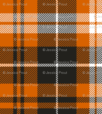 (micro print) pumpkin spice plaid || soft black