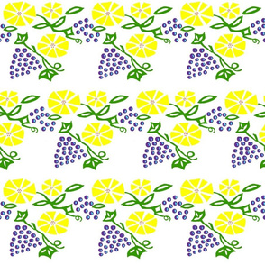 Grapes and Flowers
