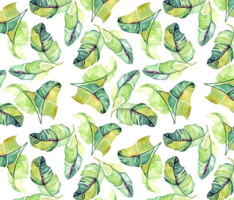 Bay Leaves fabric by en_go_zee on Spoonflower - custom fabric