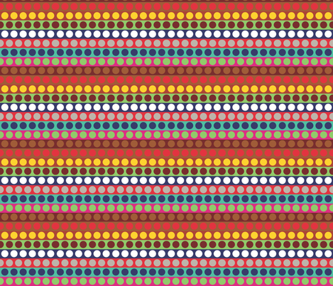 Heart of Africa Drumbeat spots and stripes fabric by colour_angel_by_kv on Spoonflower - custom fabric