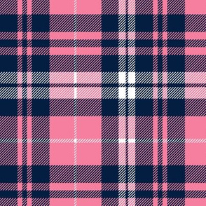 fall plaid || hot pink and navy