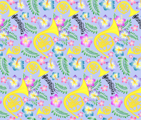 Periwinkle Horn fabric by fleurette7 on Spoonflower - custom fabric