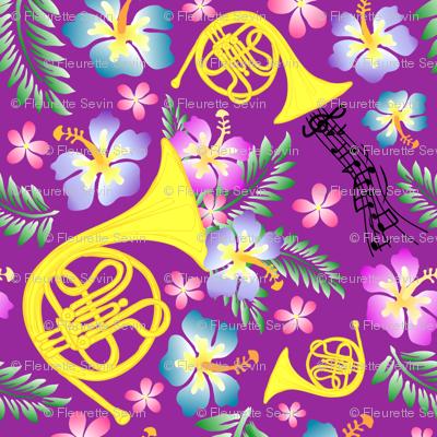 Hornwaiian Purple Small