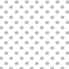 Spotty gray on white