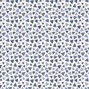 Geometric Blues on White