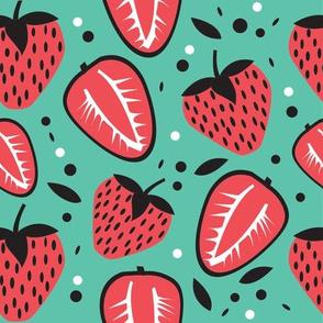 Strawberry Fun Teal