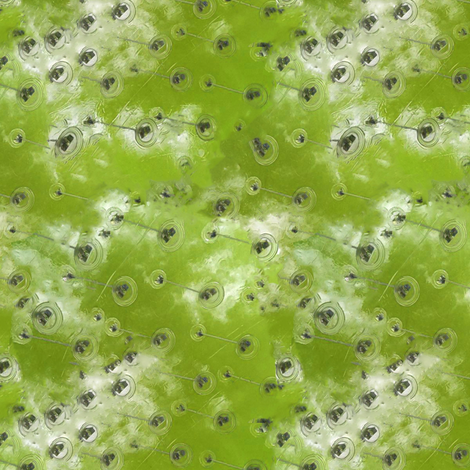 Bubbles green fabric by zandloopster on Spoonflower - custom fabric