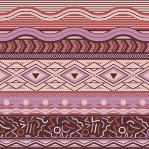 Memphis Stripe - Pinks