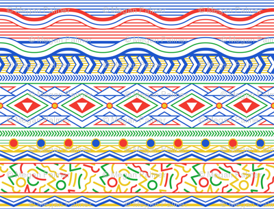 Memphis Stripe - White