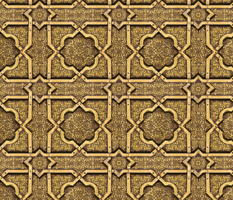 brass ceiling  fabric by unseen_gallery_fabrics on Spoonflower - custom fabric