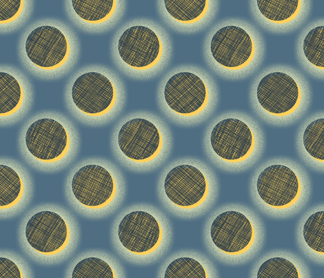 Woven Dots Solar Eclipse fabric by siya on Spoonflower - custom fabric