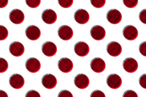 Woven Dots - Black and Red on White fabric by siya on Spoonflower - custom fabric