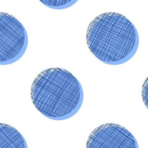 Woven Dots - Blues on White