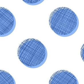 Woven Dots - Blues on White