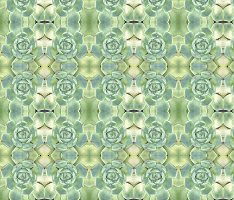 Pastel Succulents 1688: Pale Green fabric by falcon11 on Spoonflower - custom fabric