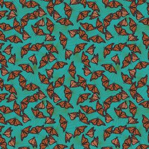 Monarch Migration - Aqua