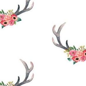 "3"" Summer Floral Blooms Woodland Antlers"